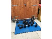 Weights, Dumbells, bars and collars
