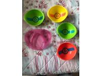 Munchkin Heat Sensor Bowls and Tommee Tippee Plate Good Used Condition! Perfect for weaning.