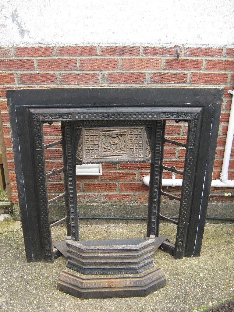 Cast Iron fire surround. Holds 10 glazed tiles. circa 1930
