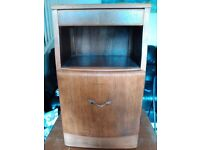 vintage bedside cabinets x 2 lovely gently restored condition