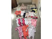 BUNDLE OF GIRLS 0-3 MONTHS CLOTHES INCLUDING SNOWSUIT & WINTER COAT - BABY CLOTHES - GIRLS
