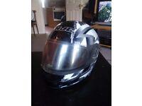 HJC CL-12 motorcycle Helmet with black star design size XL