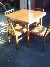 Original G Plan Extendable Rosewood Dining Table and 4 Chairs