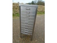 Lovely Stor Metal Filing Cabinet Stripped & Polished Great Looking Item Delivery Can Be Arranged.