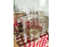 5 mason jars in different sizes - price negotiable