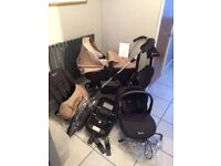 Silver Cross Wayfarer Pram and Travel System including Isofix, Car Seat, CarryCot and more extras!