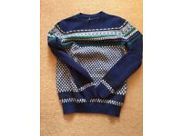 Benetton wool jumper boys size large 77cm chest new