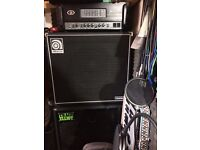 """Ampeg SVT-2 Pro Bass Amp Head with Ampeg Classic 15"""" Cab and Trace Elliot 2x10"""" Cab"""