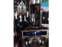 Oriental. Laquard mother of pearl corner tv cabinet forsale