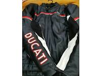 Ducati leather motorcycle jacket