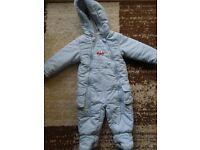 Boy's snowsuit 9-12m