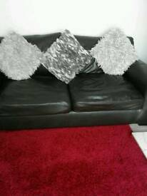Dfs leather sofa