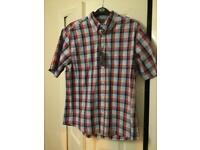 Men's medium check shirt Debenhams Maine Brand New with tags