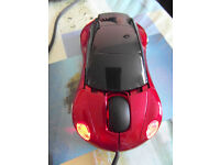 Wired Mouse USB Red Car New no box