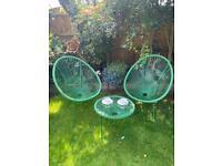 Green string garden furniture