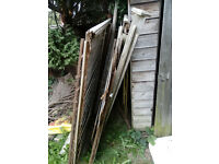 Old Fence Panels, fallen tree, spare wood, Fire wood.... FREE******