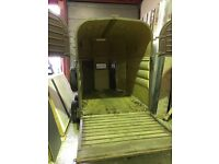 Horse box floor and doors