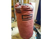Filled BBE large punchbag with chains