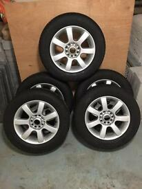 Multi fit wheels. 5 new tyres.