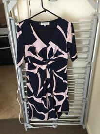 Principles Navy and Blush Dress SIZE 12 petite