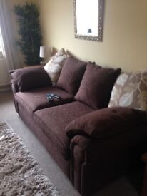 SCS 3 seater sofa and snuggle cuddle chair