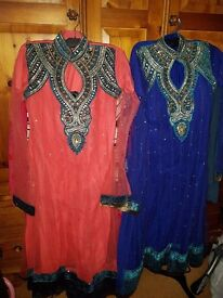 Brand new anarkali 3 piece suits and platforms