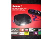 Roku 3 streaming box, brand new.