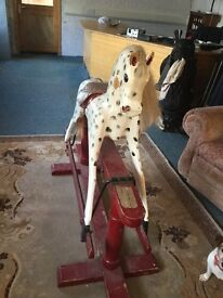 Wooden rocking horse. Approx.