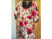 Monsoon, size 10 oriental dress with pink flowers