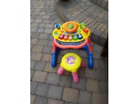 Vtech Grow and Go Walker with stool