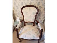 Antique Victorian Nursery (full size) Arm Chair