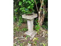 Pillar style square bird bath or plant stand