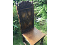 6x Wainscot Style Dining Chairs - Hand Carved by Crown Guild of Master Woodcarvers £2k new