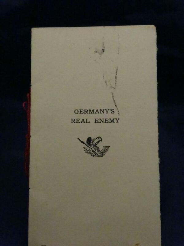 WWI Simmons Service War Bulletin Germany