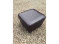 Leather pouffe as new condition