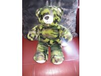 GENUINE BUILD A BEAR in camouflage (fur) - IMMACULATE