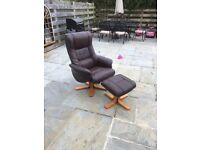Reclining chair and foot stool