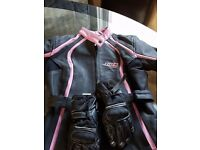 Ladies leather bike jacket size 12 excellent condition
