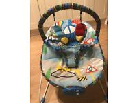 Mothercare Transport Bouncer - Blue for 15£
