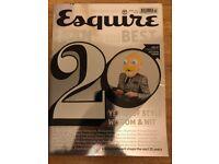 Esquire 20th Anniversary Edition Magazine