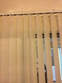Long wide vertical blind cream