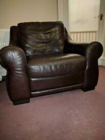 Comfy Brown Leather Armchair