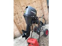 Tohatsu outboard 25 Hp four stroke electric start on remotes