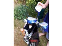 Donnay golf clubs bag and umbrella set.