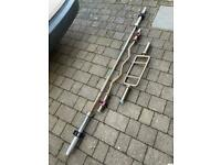 Jordan 7 foot 20kg olympic barbell, ez bar and hammer curl bar with collars