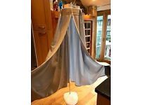 Blue curtains for baby cot