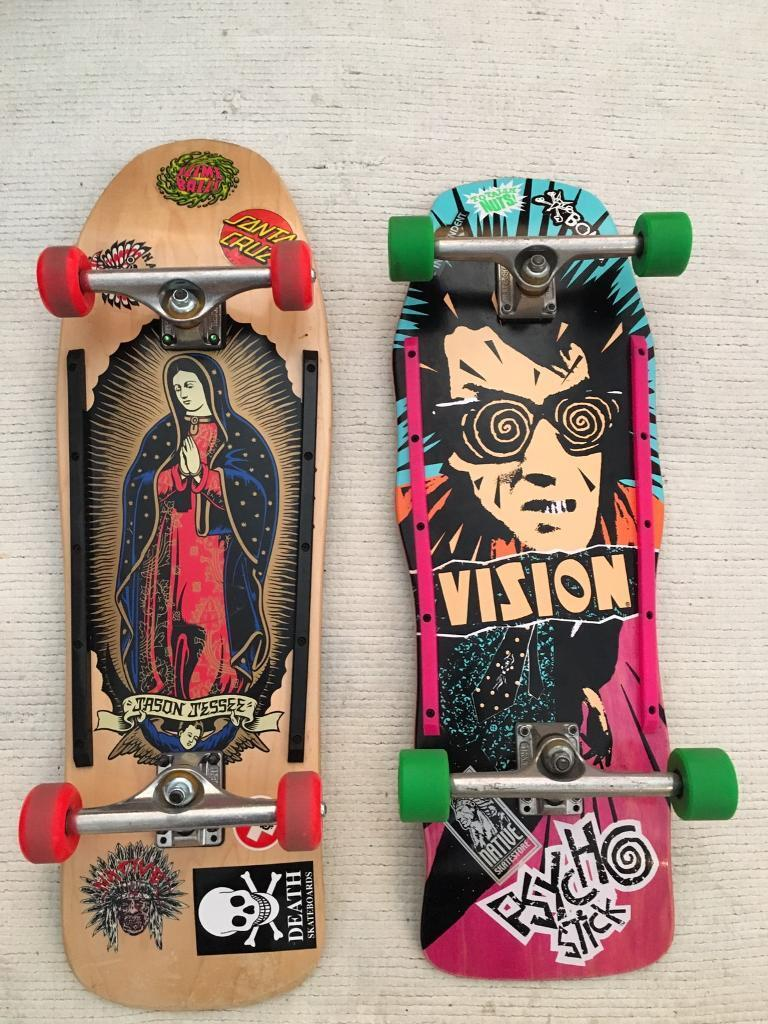 Vintage Reissue Jason Jesse and Vision Psycho Stick Skateboards
