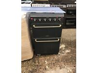 HOTPOINT 50CM SOLID TOP ELECTRIC COOKER IN GREEN