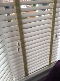 Off white wooden blinds