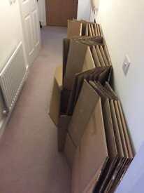 19 Removal Cartons; 60 x 40 x 40 cm; quadruple walled